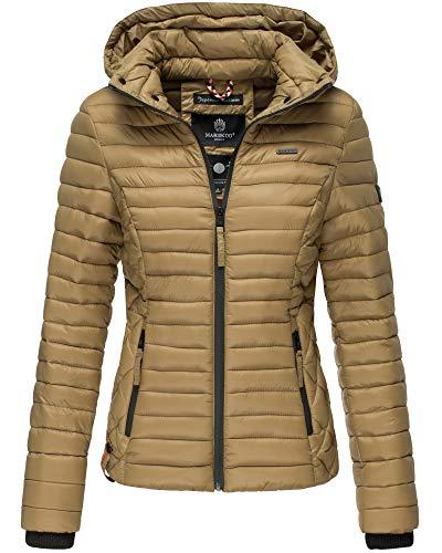 Marikoo Damen Jacke Steppjacke Übergangsjacke mit Kapuze gesteppt B600 (Small, Cinnamon)