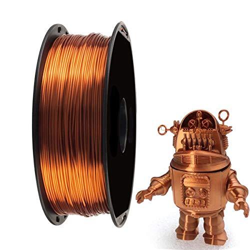 Seda Brillante Cobre Filamento de Impresora 3D PLA - Filamento 3D 1.75 mm EKOHOME Para impresora 3D / Pluma de Impresión 3D, 1KG / 360m, 0.02 mm Tolerancia, Envasado vacío, RoHS Aprobado no Tóxico