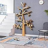 Bibliothèque en forme d'arbre Au sol Cadre en bois massif décoratif Salon Cafétéria Supports de livres Fond multifonctionnel Étagères flottantes (taille : 120x16x180cm)