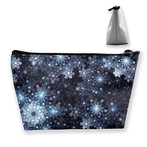 Kosmetiktasche Trapez Aufbewahrungstasche Schneeflocken Fantasy Stars Tragbare Kosmetiktasche Damen Mobile Reisetasche