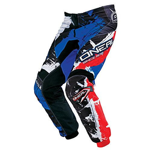O\'Neal Element Youth MX DH Kinder MTB Pant Hose lang Shocker schwarz/blau/rot 2018: Größe: 26 (140-152)