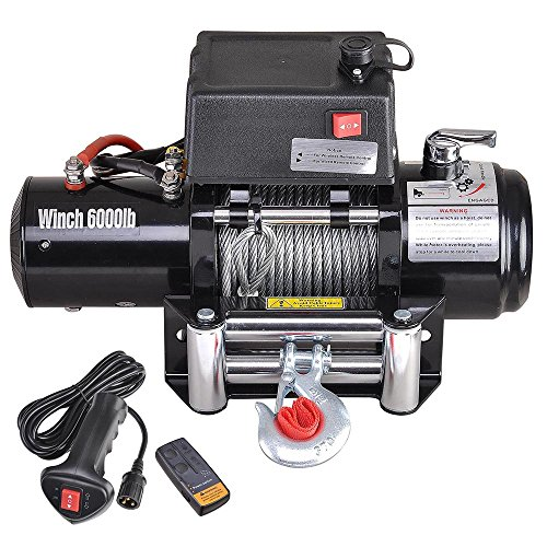 ReaseJoy 6000lbs (2721kgs) ATV Electric Recovery Winch Kit Wireless Remote Control 12V UTV Trailer Truck Car Test