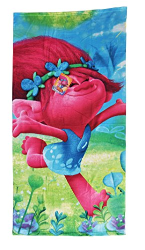 Trolls - Poppy toalla infantil de microfibra, 70x140 cm.