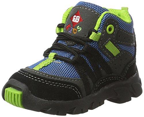 Bruetting Unisex-Kinder Moritz Hohe Sneaker Blau (Blau/schwarz/lemon)