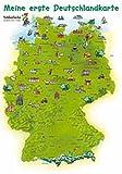 Schlaufuchs Kinderzimmer-Poster: Meine erste Deutschlandkarte