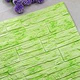 Hukz Wandpaneele Selbstklebend,60cmx30cm PE Schaum 3D Ziegelstein Tapete Wasserdicht Wandtattoo Anti-Kollision Wallpaper (K)