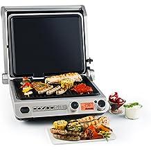 2 Fiamme Fino a 300 Gradi termostato Integrato Traedgard/® Barbecue da Tavolo Elettrico Indio 300 2400 Watt