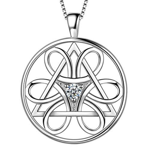 AuroraTears 925 Sterling Silber Davidstern Halskette Runde Münze Kreuz Anhänger Jüdischer Schmuck Religiöse Judaica Geschenke für Frauen DP0162W