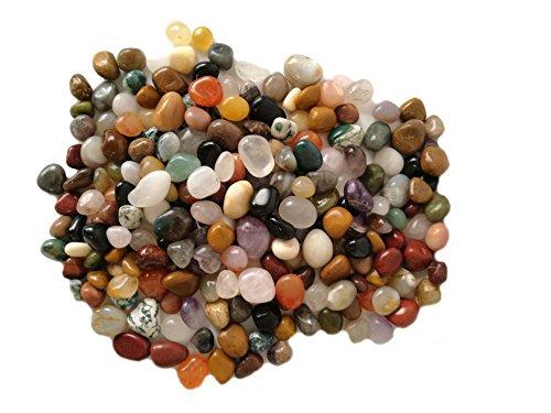 Trommelsteine | Edelsteine | Heilsteine | Mischung | aus Indien | 10 Sorten | 1 Kg | ungefärbt | naturprodukt | Größe L