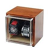 Uhrenbeweger-Box für Automatikuhren oder Rolex Double Spacious für Jede Größe, tragbarer Mini-Uhrenbeweger mit Wechselstrom- oder Batteriebetrieb, superleiser japanischer Motor