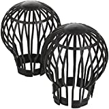 Gutter pipe leaf Downpipe trap guard protection - set of 4 - Leaves stop by Deuba