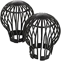 Gutter pipe leaf Downpipe trap guard protection - set of 4 - Leaves stop