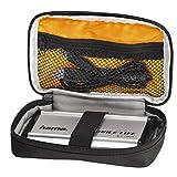 Hama externe Festplattentasche Black Bird (2,5 Zoll, Case für 2,5 Zoll Festplatten und SSD, integriertes Kabelfach, Innenmaße: 9 x 15 x 3 cm) schwarz