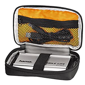 Hama externe Festplattentasche Black Bird (integriertes Kabelfach, Innenmaße: 9 x 15 x 3 cm, geeignet für 2,5 Zoll Festplatten/SSD) schwarz