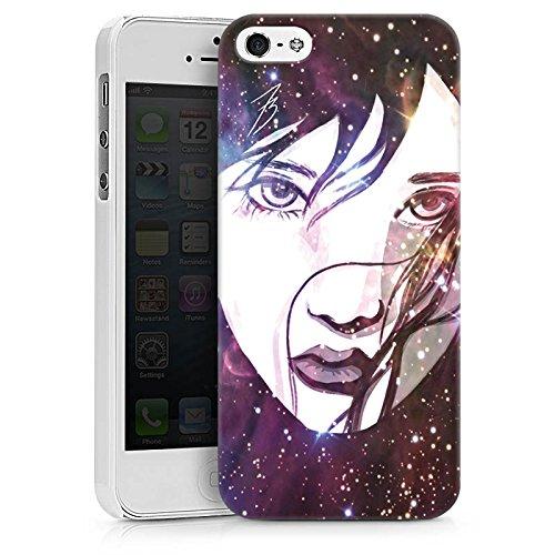Apple iPhone X Silikon Hülle Case Schutzhülle Gesicht Galaxy Mädchen Hard Case weiß