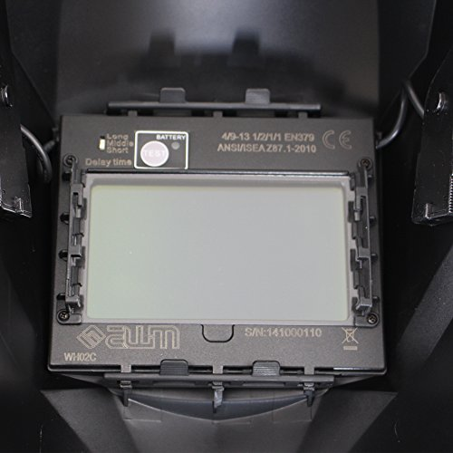 awm® WH02C Automatik Schweißhelm + 10x Ersatzgläser Schweißschirm Carbon Schweißmaske Solar Schweißbrille