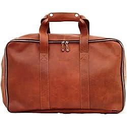 LE GLOBE-TROTTER Bolso de viaje de piel maletas color marrón PAUL MARIUS