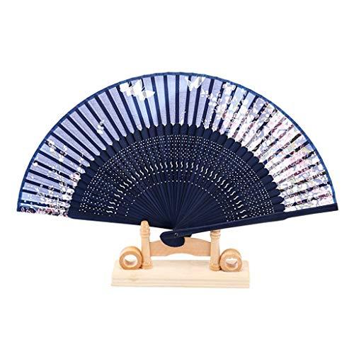 20 Schwarz-tintenstrahl (Kreativer Bambusgriff-Faltfächer, Retro- Eigenschaften der chinesischen Art-Damen-Tintenstrahl-Handwerks-Tanz, Geschenk-Faltfächer (Color : A))