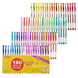Best Gel Pens For Colorings - Shuttle Art 160 colors Glitter Gel Pens Set Review