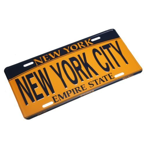 NEW YORK CITY - New York License Plate NY Car Plate NYC Metal Empire Gold Plate NYC Plate Souvenir NY License Plates Decor Decoration by Liberty Souvenir