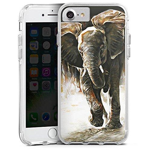 Apple iPhone X Bumper Hülle Bumper Case Glitzer Hülle Elefant Natur Zeichnung Bumper Case transparent
