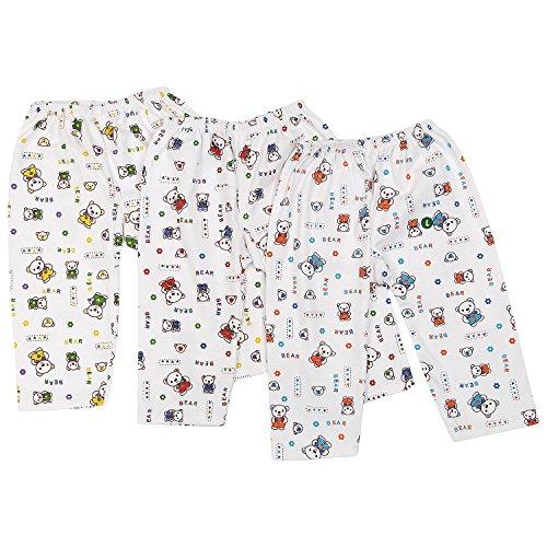 Littly Cotton Baby Pajamas/Leggings, Pack of 3 (White)