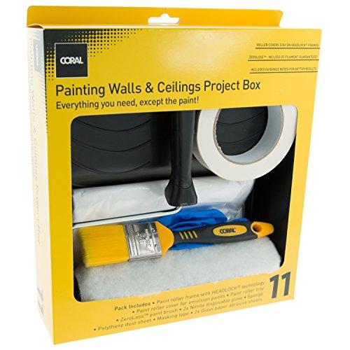 Coral Tools 103059Zoll Aufgabe Partner komplett Dekorieren Project Box mit Rolle Bürste-Mehrfarbig (11-teilig) -