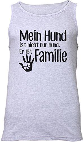 ezyshirt® Mein Hund ist nicht nur Hund! Er ist Familie Herren Tanktop Grau/Schwarz