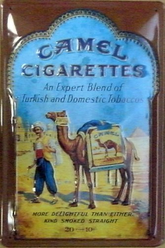 Camel sigarette Embossed metal Sign (NA 2030)