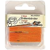 2er Pack Brillenschnüre orange, Brillenbänder, Brillenkordel Brillen Bänder Schnüre Kordel, 0621