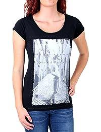 Madonna T-Shirt Damen NAIMA Rundhals Motiv Druck Shirt MF-408032