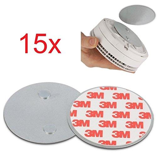15x Magnethalterung Magnetpads 3M Klebepads für Rauchmelder, Brandmelder, Feuermelder, LED Spots,...