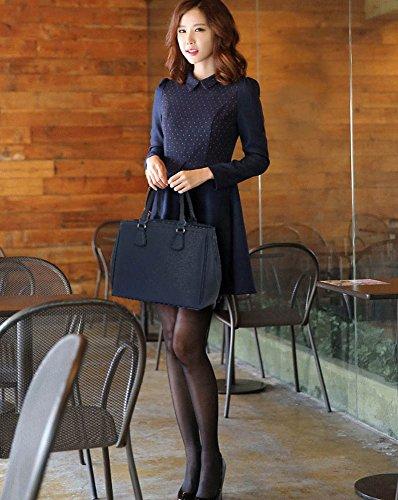 TrendStar Frau Entwerfer Modisch Handtasche Damen Imitat Leder Für Leinentrage Tasche Marine
