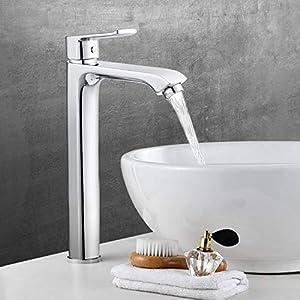 Amzdeal Grifo de Baño – Mezclador de lavabo | Grifo de agua con 121 mm de Altura de Salida de agua y Cartucho de…