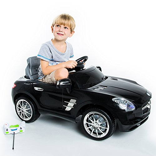 Preisvergleich Produktbild Elektrofahrzeug Kinderauto Mercedes Benz SLS AMG Elektroauto Kinderfahrzeug mit Fernbedienung (schwarz)