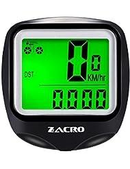 Zacro Ordinateur de Vélo, Sans Fil Compteur de Vitesse Vélo Tachymètre avec une Boussole Porte-clés, Multi Fonction Odomètre de Vélo