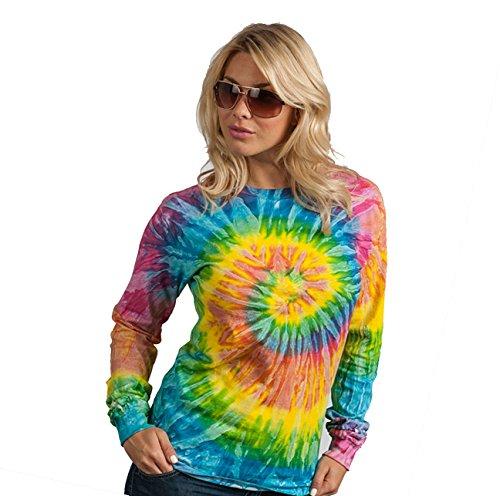 TRVPPY Tie Dye Damen Langarm Shirt Sweatshirt Größe M (Dye Tie Langarm)