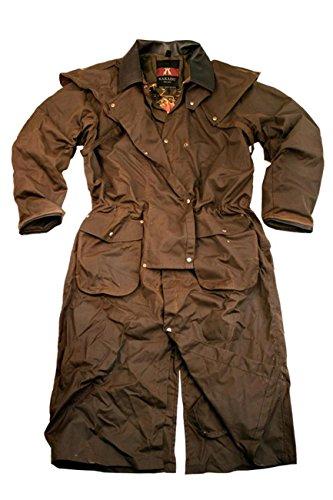 Manteau 2-en-1, mis en valeur par un col et des poignets en cuir de vachette, Kakadu Traders Iron Bark Coat, 5O01 Marron
