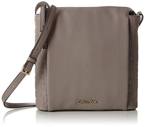Calvin Klein JeansMISH4 FLAT CROSSBODY - Borsa a tracolla Donna , Grigio (Grau (FUNGI 094)), 21x21x5 cm (B x H x T)