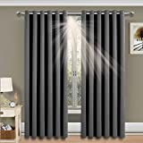 Imperial Rooms Window blinds Blackout Eyelet Curtains Pair thermal insulated (Grey / 66x72)