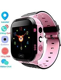 Smartwatch para Niños - Reloj de niños con Pantalla táctil Llamada con 2 Voces Chat de
