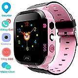 Niños Smart Watch Phone - GPS/LBS Reloj para Niños Niñas de 3-12 años con Llamada de Voz Chat SOS Juego de Cámara Linterna Reloj Despertador Reloj Infantil Regalos de Cumpleaños (M9-Rosa)