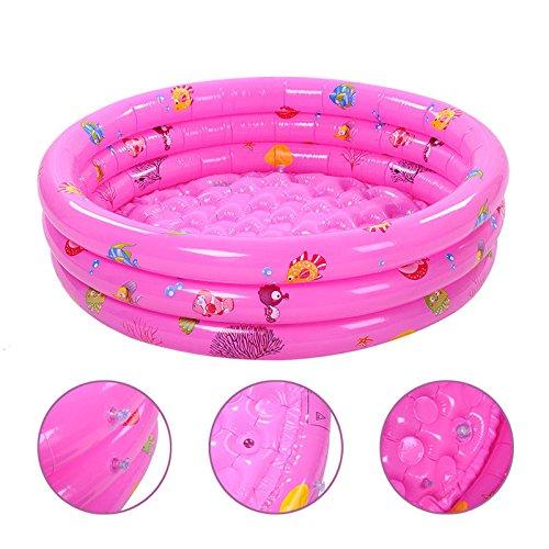 Preisvergleich Produktbild Neue Kinder Baby Pools aufblasbare Badewanne Wasserspaß für Kleinkinder 3-Ring Pool, S: 90 cm MAPLE