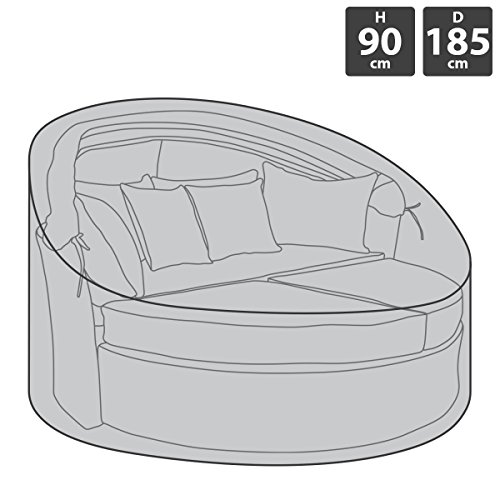 Bentley Sofa (Charles Bentley - 100 % wasserdichte Abdeckung für Rattan-Gartensofa - Dunkelgrau)