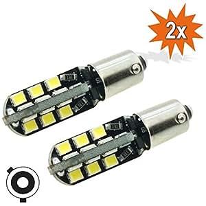 2 x lampadine led da auto h6w h5w bax9s 24x 2835 led smd for Lampadine led per auto