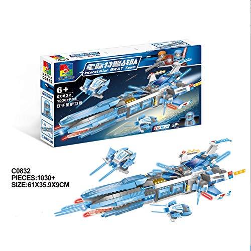 HLDX 1030 + pcs Technologie Reihe von Fregatten DIY zusammengebaute Bausteine   Spielzeug Universum Star Wars, um den Frieden zu erhalten, Jungen und Mädchen