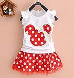 Baby Mädchen Minnie Mouse Party Kleid Weste Rock 2–3Jahre