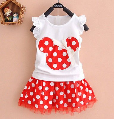 Baby Mädchen Minnie Mouse Party Kleid Weste Rock 2–3 Jahre (Minnie Mouse Dress Up)