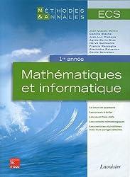 Mathématiques et informatique ECS 1re année
