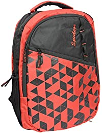 Spicebags Polyester 17 Liters Black And Red School Backpack